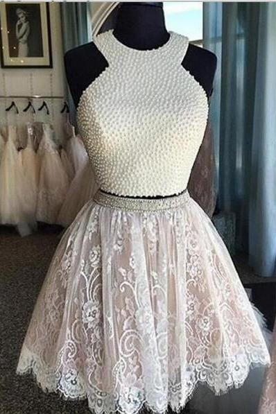 White Homecoming Dress,Lace Homecoming Gown,Tulle Homecoming Gowns,Ball Gown Party Dress,Short Prom Dresses,Lace Formal Dress