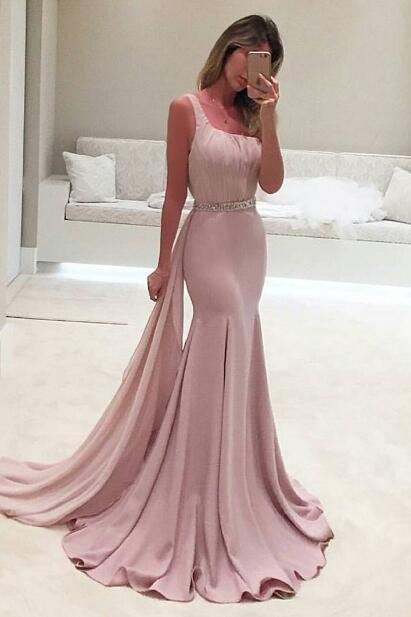 Crystal Prom Dress,One Shoulder Prom Dress, Mermaid Prom Gown, Party Dress, Special Ocassion Dress,Ruffles Evening Dress,Real Made Prom Party Dress,Prom Dress,Prom Dress 2016